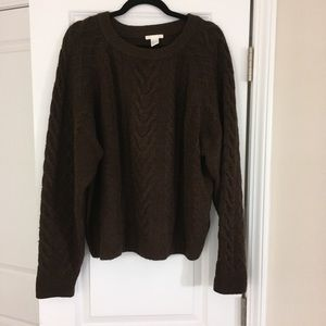 Brown cabled pullover